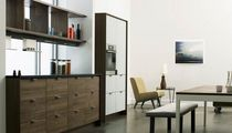 contemporary solid wood / stainless steel kitchen  Henrybuilt