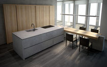 contemporary solid wood / stone kitchen PROGETTO50 by Federica Toncelli, Stefano Stefanelli TONCELLI