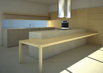 contemporary solid wood / stone kitchen +M/E MVK ITALIA
