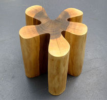 contemporary solid wood stool FLOWERPOWER Peter Hook