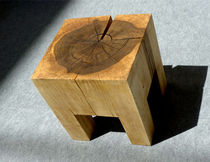 contemporary solid wood stool VIERKANT Peter Hook