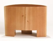 contemporary solid wood stool  Peter Hook