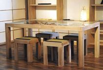 contemporary solid wood table  Cinius