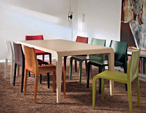 contemporary solid wood table ILVOLO ALIAS