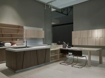 contemporary solid wood / wood veneer kitchen TRAPEZIO GRATTAROLA