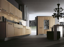 contemporary solid wood / wood veneer kitchen DIAMANTE by Giancarlo Vegni  EFFETI INDUSTRIE