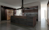 contemporary solid wood / wood veneer kitchen PROGETTO50 by Federica Toncelli, Stefano Stefanelli TONCELLI