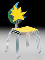 contemporary stacking chair AGATHA AMAT - 3