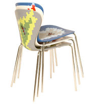 contemporary stacking chair HELIUM ISA International