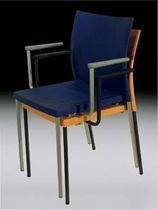 contemporary stacking chair with armrests BIKINI AMAT - 3