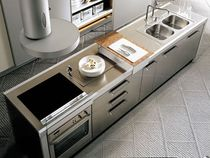contemporary stainless steel kitchen LIVING TONCELLI