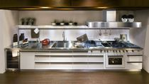 contemporary stainless steel kitchen AVANT GARDE WHITE J. Corradi