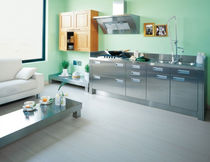 contemporary stainless steel kitchen ARDENZA3 CHEMINEES PHILIPPE