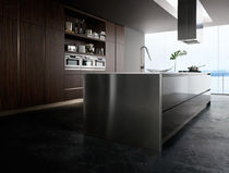 contemporary stainless steel kitchen K_GOCCIA EBANO MESON'S