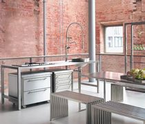 contemporary stainless steel kitchen  PHILIPP PLEIN