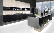contemporary stainless steel kitchen TIO-KERNESCHE rational einbaukuechen