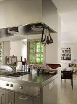 contemporary stainless steel kitchen GRAND CHEF INOX de Manincor