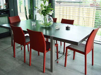 contemporary steel dining table HUF HAUS SAXUM