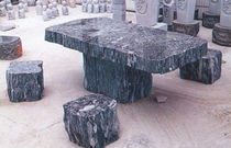 contemporary stone coffee table  The Stromberg Group