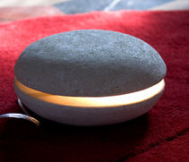 contemporary stone table lamp BIGMAC by Michele Gastaldo stonebreakers