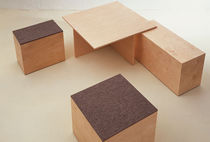 contemporary stool SOCIAL CUBE  Sanktjohanser