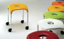 contemporary stool with casters BILLY MC CONFORT