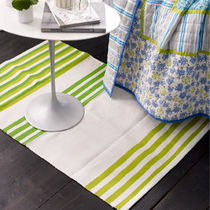 contemporary striped rug in cotton LIME STRIPE DESIGNERS GUILD