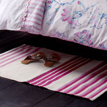 contemporary striped rug in cotton fuschia stripe dhurrie DESIGNERS GUILD