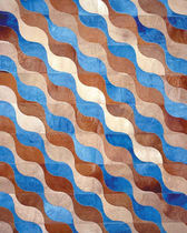 contemporary striped rug in leather NEW WAVE by Riccardo Fattori Extrabilia