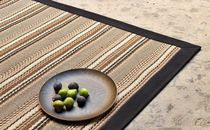 contemporary striped rug in sisal FUN : MAHON NATURTEX