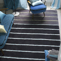 contemporary striped rug in wool MILLBRECK GRAPHITE DESIGNERS GUILD