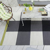 contemporary striped rug in wool BRERA MATTONE NOIR DESIGNERS GUILD