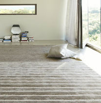 contemporary striped rug VISCOSA  Ligne Roset France