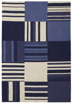 contemporary striped rug in wool (handmade) VINTAGE  Williams Sonoma Home