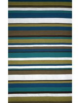 contemporary striped rug synthetic COASTAL STRIPE SUMMER LIORA MANNE