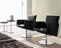 contemporary swivel armchair WAIT by S.T.C. Calligaris Italian home design since 1923