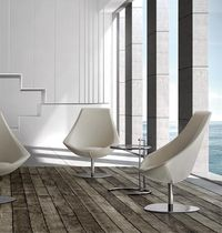 contemporary swivel armchair RIVA by  GRASSOLER