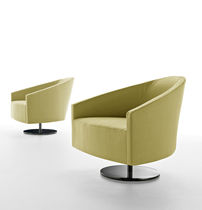 contemporary swivel armchair GLOB mimo contract