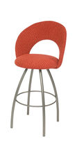 contemporary swivel bar chair BISCOTTI Trica