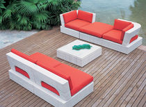 contemporary synthetic rattan garden sofa (recyclable)  Outdoor Comforts
