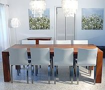 contemporary table INTERIOR SOLID TEAK FURNITURE Infinita Corporation