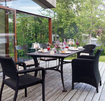 contemporary table and chairs set for gardens DEAUVILLE LAMBERT