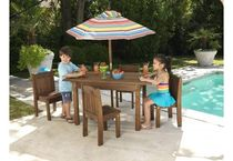 contemporary table and chairs set for gardens  KidKraft