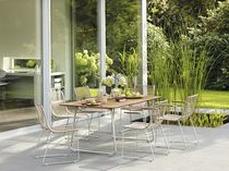 contemporary table and chairs set for gardens PAN  Garpa