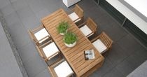 contemporary table and chairs set for gardens MIAMI BEACH BOREK parasols | outdoorfurniture