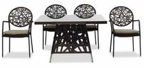 contemporary table and chairs set for gardens FREESTYLE HARTMAN