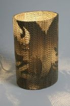 contemporary table lamp in recycled cardboard FLUTE LAMP by Giles Miller Farm