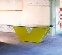 contemporary table (glass top) MEMORIES : TUNNEL OPOSTOS - PLURAL BRAND SINGULAR OPTION