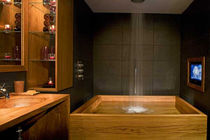 contemporary teck wood bathroom  WILLIAM GARVEY