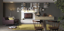 contemporary TV wall unit CUBE4 &amp; Movida by Enrico Cesana Olivieri